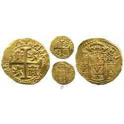 Lima, Peru, cob 4 escudos, 1707H, rare.