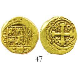 Bogota, Colombia, cob 2 escudos, Philip V, assayer S (1720s).