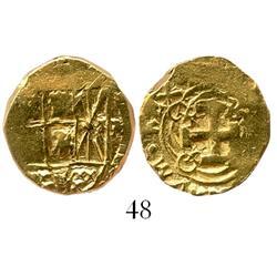 Bogota, Colombia, cob 2 escudos, Philip V, assayer M (1730s).
