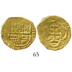 Seville, Spain, cob 2 escudos, 1615V.