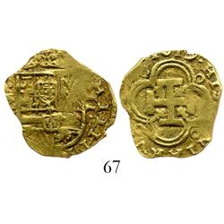 Seville, Spain, cob 2 escudos, 1619, assayer not visible.