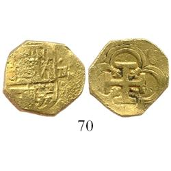 Seville, Spain, cob 2 escudos, Philip III(?), assayer not visible.