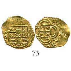 Seville, Spain, cob 1 escudo, (16)25(?)D, rare.