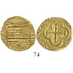Toledo, Spain, cob 2 escudos, Philip III, assayer C, rare.