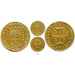 Brazil (Bahia mint), 4000 reis, John V, 1719-B.