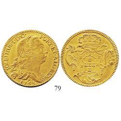 "Brazil (Rio mint), 6400 reis, Joseph I, 1753-R, from the ""Clive of India treasure"" (ca. 1755)."