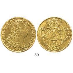 Brazil (Bahia mint), 6400 reis, Joseph I, 1756-B.