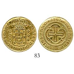 Brazil, 2000 reis, Maria I, 1787.