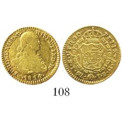 Bogota, Colombia, bust 1 escudo, Ferdinand VII (bust of Charles IV), 1814JF.