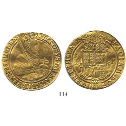 London, England, unite, James I (4th bust), mintmark rose (1605-6).