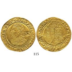 London, England, laurel (20 shillings), James I (4th bust), mintmark lis (1623-4).