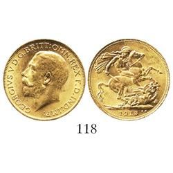 London, England, sovereign, George V, 1913.
