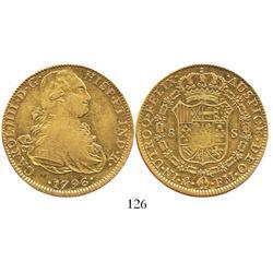 Mexico City, Mexico, bust 8 escudos, Charles IV, 1796FM.