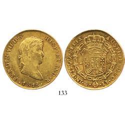 Mexico City, Mexico, bust 8 escudos, Ferdinand VII, 1818JJ.