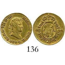 Mexico City, Mexico, bust 1/2 escudo, Ferdinand VII, 1814JJ.