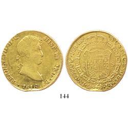 Lima, Peru, bust 8 escudos, Ferdinand VII, 1816JP.