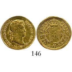 Lima, Peru, bust 1 escudo, Ferdinand VII, 1816/5JP.
