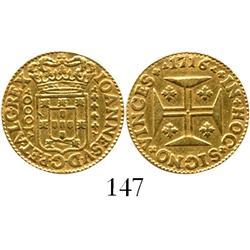 Lisbon, Portugal, 1000 reis, John V, 1716.