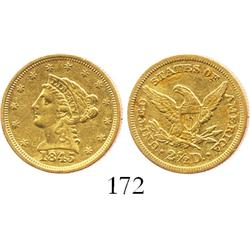 USA (Philadelphia mint), $2-1/2 quarter eagle, 1845.