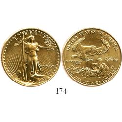 USA (Philadelphia mint), $25 Liberty, 1987.