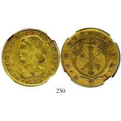 Popayan, Colombia, 8 escudos, 1830FW, encapsulated NGC VF-30.