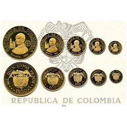 "Bogota, Colombia, 1968 International Eucharistic Congress Commemorative set (""Pope set"") of 100, 200"
