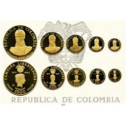 Bogota, Colombia, 1969 Liberation Campaign (Battle of Boyacá) 150th Anniversary Commemorative set (""