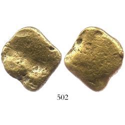 Natural gold nugget (flat), 42.1 grams.
