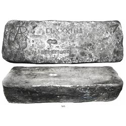 Large silver bar #718, Class Factor 1.0, 88 lb 4.48 oz troy.