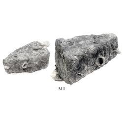 """Silver """"wedge"""" ingot, 768 grams, encrusted (uncleaned)."""