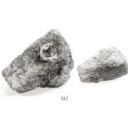 """Silver """"wedge"""" ingot, 761 grams, encrusted (uncleaned)."""