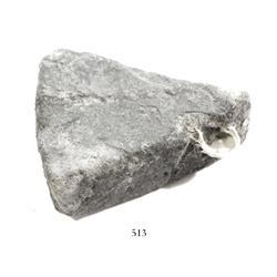 """Silver """"wedge"""" ingot, 687 grams, encrusted (uncleaned)."""
