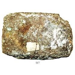 Large copper ingot #2466, 30 lb.
