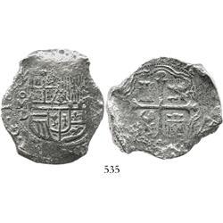 Mexico City, Mexico, cob 8 reales, 1622D, Grade 1, rare.