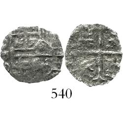 Mexico City, Mexico, cob 1 real, Philip III, assayer D, Grade 2(-), very rare denomination from this