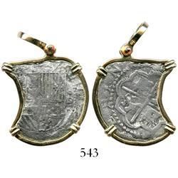 Lima, Peru, cob 2 reales, Philip II, assayer Diego de la Torre, oD-(*) to right, Grade 3, interestin