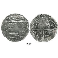 Potosi, Bolivia, cob 8 reales, Philip III, assayer M, encapsulated NGC Fine details / environmental