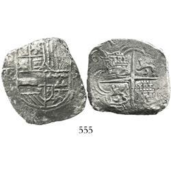 Potosi, Bolivia, cob 8 reales, (1)61(8)T/PAL, Grade 2, very rare.
