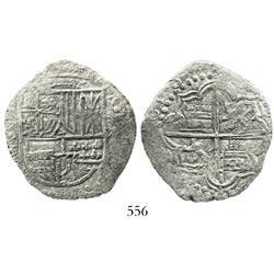 Potosi, Bolivia, cob 8 reales, (1)618T, Grade 2.