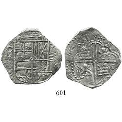 Potosi, Bolivia, cob 4 reales, 1617M, Grade-1 quality but original certificate missing (replaceable)