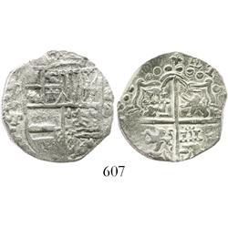 Potosi, Bolivia, cob 4 reales, (162)0T, Grade-1 quality but original certificate missing (replaceabl