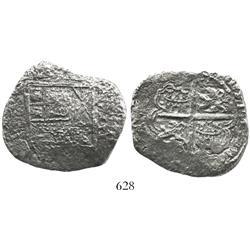 Seville, Spain, cob 8 reales, Philip III, assayer D, Grade-3 quality, original certificate missing (