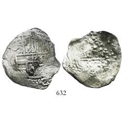 Potosi, Bolivia, cob 8 reales, Philip III, assayer not visible, Grade 3, with original 1982 certific