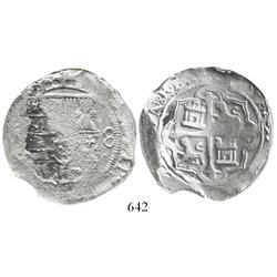 Mexico City, Mexico, cob 8 reales, Philip II or III, assayer not visible, encapsulated NGC SHIPWRECK