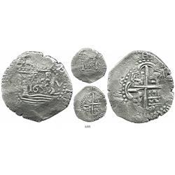 """Lima, Peru, cob 8 reales, 1659V, """"Star of Lima"""" type, rare."""