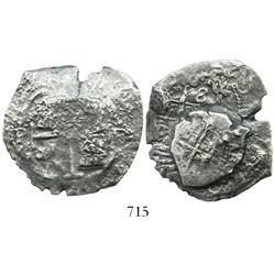 Clump of 2 Potosi, Bolivia, cobs of assayer E (one 8R and one 1R).