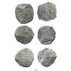 Lot of 3 Potosi, Bolivia, cob 8R: 1671E, 1679C and 1679V.