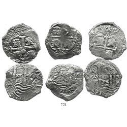 Lot of 3 Potosi, Bolivia, cob 8R: 1674E, 1679V (2).