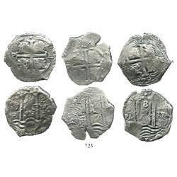 Lot of 3 Potosi, Bolivia, cob 8R: 1676E, 1678E and 1679V.