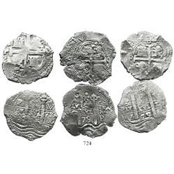 Lot of 3 Potosi, Bolivia, cob 8R: 1679C and 1679V (2).